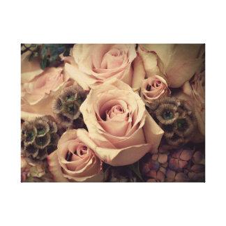 ピンクのバラ キャンバスプリント