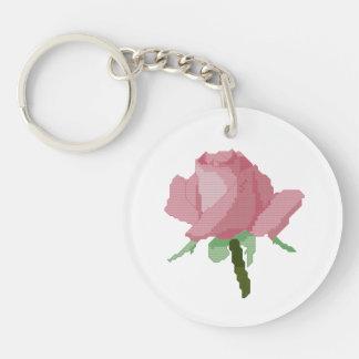 ピンクのバラ キーホルダー