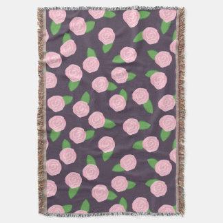 ピンクのバラ スローブランケット