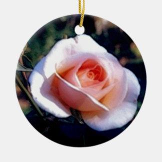 ピンクのバラ セラミックオーナメント