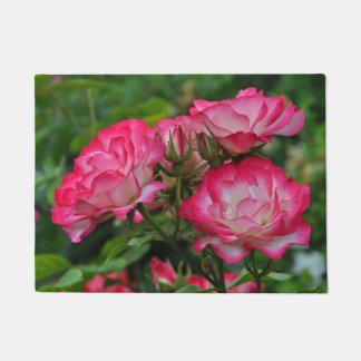 ピンクのバラ ドアマット