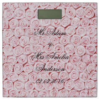 ピンクのバラ、モダンなテンプレートの結婚祝い、エレガントc 体重計