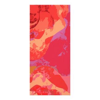 ピンクのバラ ラックカード