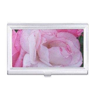 ピンクのバラ 名刺入れ