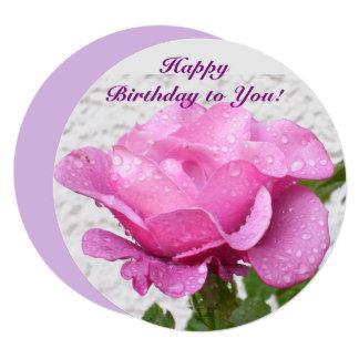 ピンクのバラ-感動的な引用文の花カード カード