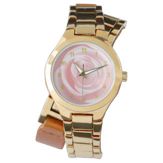 ピンクのバラ 腕時計