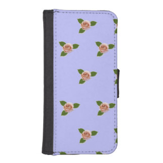 ピンクのバラ iPhoneSE/5/5sウォレットケース