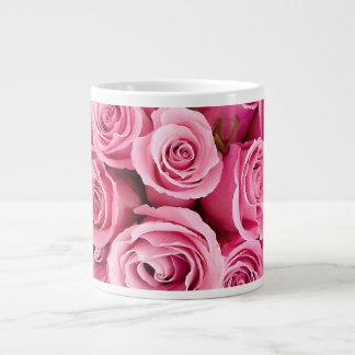 ピンクのバラmag ジャンボコーヒーマグカップ