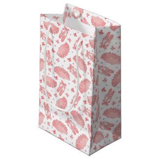 ピンクのバレエの星パターン スモールペーパーバッグ
