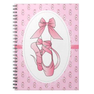 ピンクのバレエシューズ ノートブック