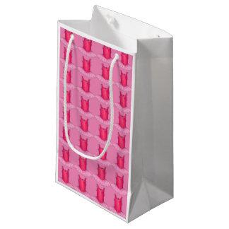 ピンクのバレリーナのチュチュのダンスの先生のギフトバッグ スモールペーパーバッグ