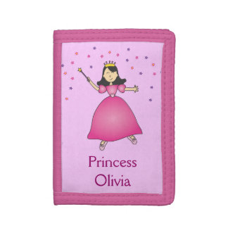 ピンクのバレリーナのプリンセスの女の子の財布