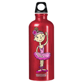 ピンクのバレリーナの女の子 ウォーターボトル