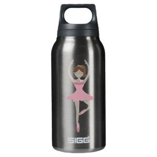 ピンクのバレリーナの女の子 断熱ウォーターボトル