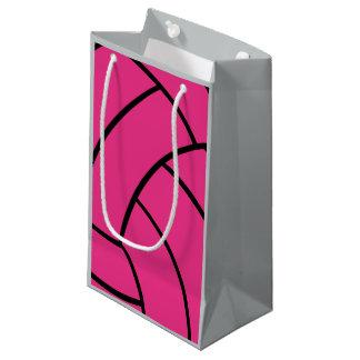 ピンクのバレーボールのギフトバッグ スモールペーパーバッグ