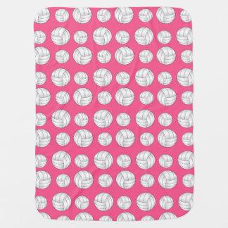 ピンクのバレーボールパターン ベビー ブランケット