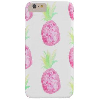 ピンクのパイナップル水彩画の技術の例 BARELY THERE iPhone 6 PLUS ケース