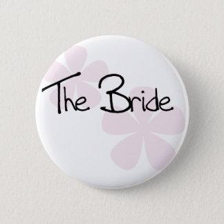 ピンクのパステルによっては花嫁が開花します 5.7CM 丸型バッジ