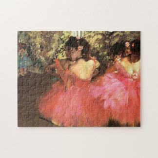 ピンクのパズルのダンサーのガスを抜いて下さい ジグソーパズル
