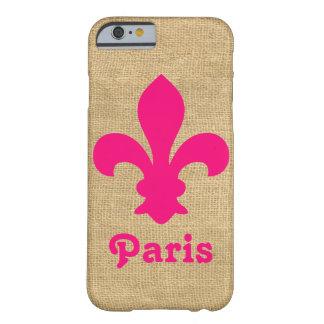 ピンクのパリのMoods Fleur de Lys Barely There iPhone 6 ケース