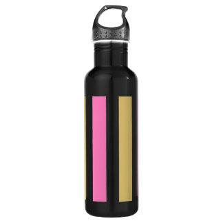 ピンクのパンジーストライプ水ボトル ウォーターボトル
