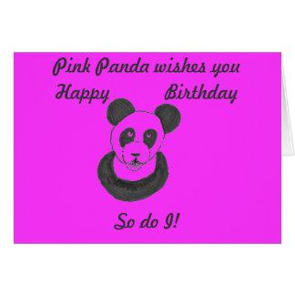 ピンクのパンダのバースデー・カード カード