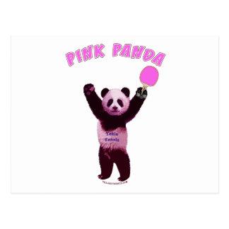 ピンクのパンダの卓球 ポストカード