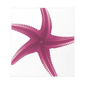ピンクのヒトデ ノートパッド