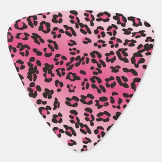 ピンクのヒョウの三角形のギターピック ピック