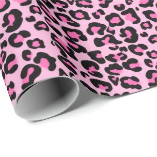 ピンクのヒョウパターン女の赤ちゃんの包装紙 包装紙