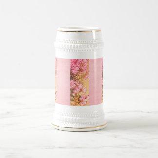 ピンクのヒースステインの小枝 ビールジョッキ