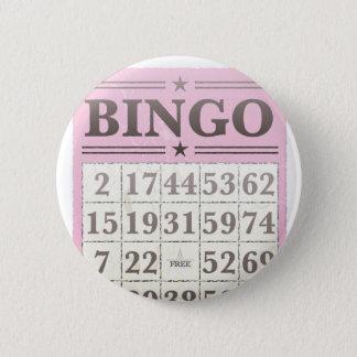 ピンクのビンゴのスコアカード 5.7CM 丸型バッジ