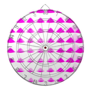 ピンクのピラミッドパターン ダーツボード