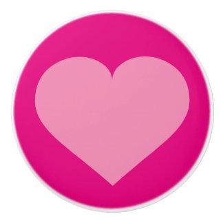 ピンクのピンクのハート セラミックノブ