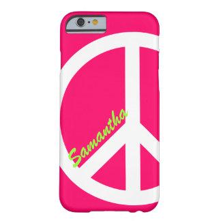 ピンクのピースサインのiPhone6ケース Barely There iPhone 6 ケース