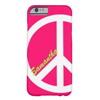 ピンクのピースサインのiPhone6ケース iPhone 6 ベアリーゼアケース