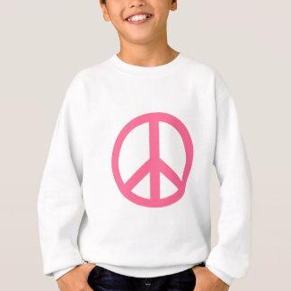 ピンクのピースサインプロダクト スウェットシャツ