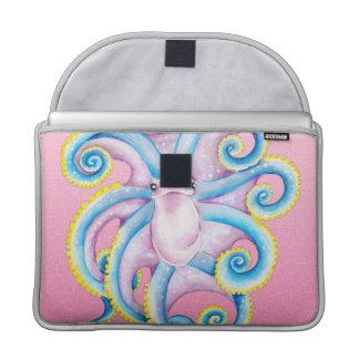 ピンクのファンキーなタコ MacBook PROスリーブ