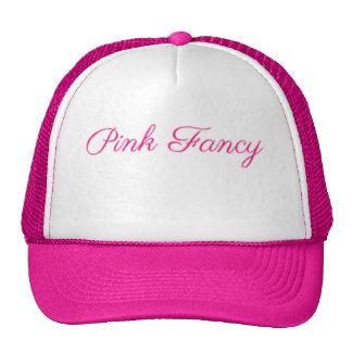 ピンクのファンシーなバッグおよびTシャツライン トラッカーハット