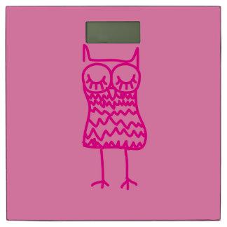 ピンクのフクロウの体重計 体重計
