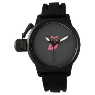 ピンクのフクロウの腕時計 腕時計