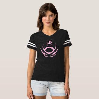 ピンクのフットボール Tシャツ