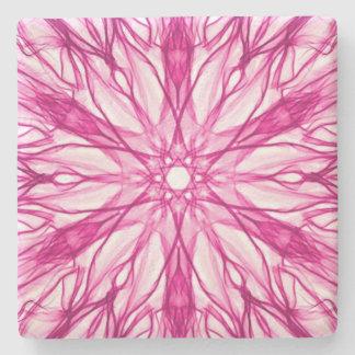 ピンクのフラクタルの芸術 ストーンコースター
