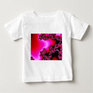 ピンクのフラクタル ベビーTシャツ