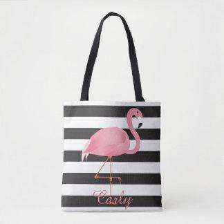 ピンクのフラミンゴのおむつのバッグ トートバッグ