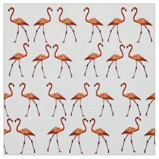 ピンクのフラミンゴのカスタムなPimaの綿織物 ファブリック