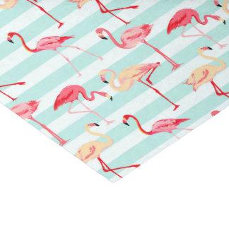 ピンクのフラミンゴのストライブ柄パターンティッシュペーパー 薄葉紙