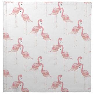 ピンクのフラミンゴのテーマの水彩画の布のナプキン ナプキンクロス