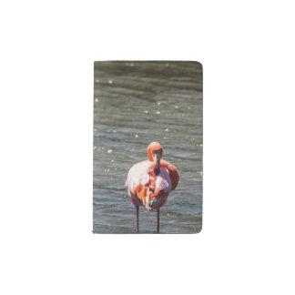 ピンクのフラミンゴのノート ポケットMoleskineノートブック
