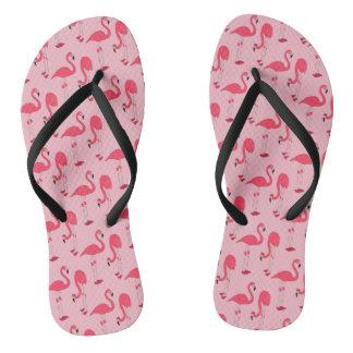 ピンクのフラミンゴのファンタジーのプリント ビーチサンダル
